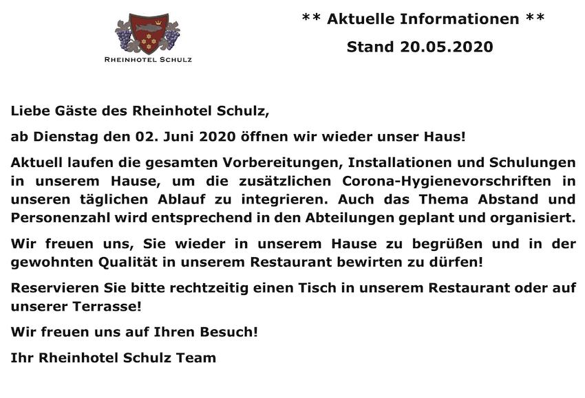 Corona Information 11.05.2020